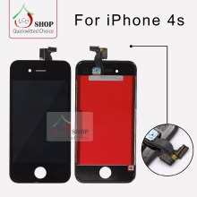 10 PCS/LOT AAA Quality LCD For iPhone 4S Screen Replacement No Dead Pixel Free Shipping DHL Black and White Color(China)