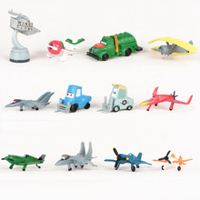 12pcs/lot Thomas Airplanes Mini Cars Pixar Toys Planes Model Toys for Children Kids Boys Birthday Christmas Gift