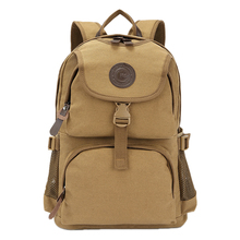 GINGER ACTIVE Large Capacity Travel Durable Canvas Backpacks Male Female Daily Zipper Hasp Shoulder Bags Travel Casual Packbag(China)