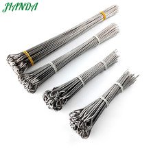 JIANDA 50pcs Stainless Steel Barbecue BBQ Skewers Needle Kebab Sticks For Outdoor Camping Picnic Tools(China)
