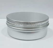 Wholesale 50pcs/lot 200g Aluminum Container 200ml Cream Jar Metal Round Tin Cosmetic Packaging