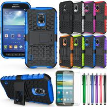 For Galaxy S5 Active Case,  Hybrid Impact Armor Rugged Case Stand Cover With/Without FILMS For Samsung Galaxy S5 Active G870