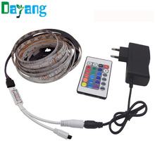 Waterproof LED Strip 300leds/5M 3528 LED lamps SMD RGB Lights IP65 LED Ribbon Tape set+RGB Controller+12V Power Supply, luz led