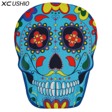 XC USHIO New Style Wall Hanging Tapestry Bedspread Mat Beach Towel Table Blanket Skeleton Head Yoga Mat Blanket Bigini Cover Up