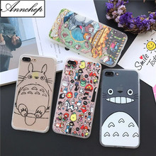 Hot Japan Cartoon Totoro Phone Cases Fundas Coque for iPhone 6S 6 7 8 Plus SE 5 5S Shell Animals Hard Cover for iphone X case