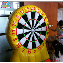 Whole dart supply giant inflatable games ,3 m height inflatable dart board for shooting