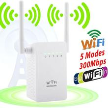 300Mbps Wireless Extender WiFi Signal Booster Network Router EU Plug White AP client Repeaters WISP operation mode