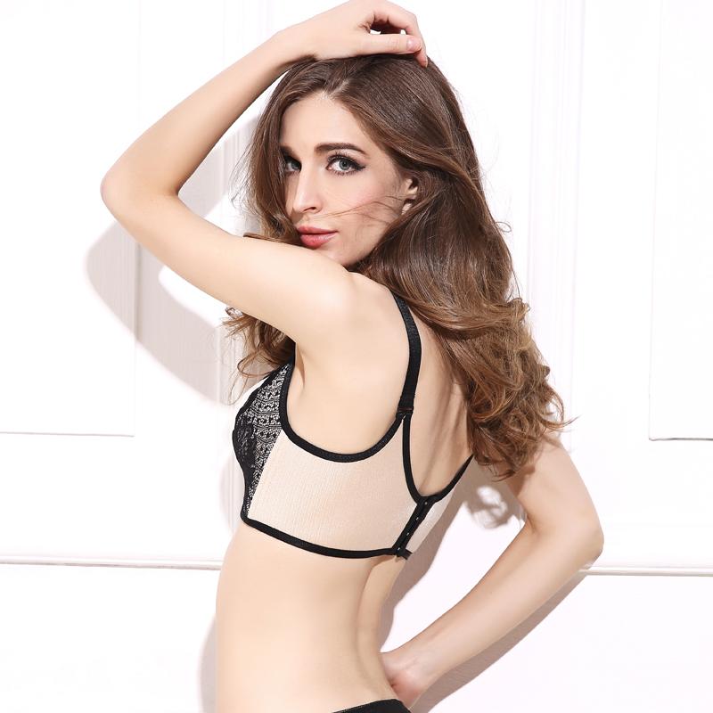 DeRuiLaDy Women Push Up Bra Lace Bralette Adjusted Comfortable Wireless Bra Underwear Women Sexy Lingerie Plus Size C D Cup 7