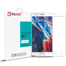 New Arrive Raugee Tempered Glass For OnePlus 3 3T Smart Phone 9H Anti-explosion Full Cover Screen Protector Film With 3 Colors