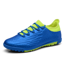 Original Soccer Shoe For Men Gray/Green Cheap Indoor Soccer Shoes Leather Mens Football Trainers Non-Slip Men Shoes For Training