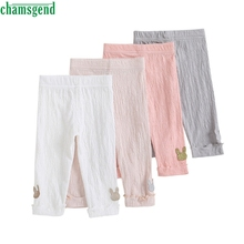 CHAMSGEND Fashion four style Infant Toddler Baby Girl Cartoon Character Capri Pants Leggings Trousers Ruched Clothes jul28 p30