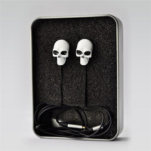 Halloween New Cool High Quality Colorful 3.5MM In-ear Skull Earphone Earbuds For MP3/MP4 for Phone DJ Candy Handset