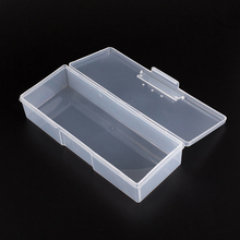 Plastic Transparent Nail Tools Storage Box Nail Rhinestone Decorations Buffer Files Grinding Organizer Case Box 193x80x39mm