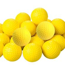 30 Pcs Hot Sale Indoor Outdoor Sports Training Golf Practice Golf Elastic PU Foam Yellow Balls Sport Wholesale Promotion