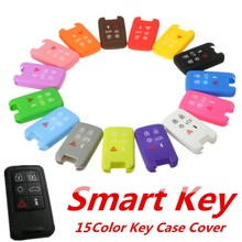 15 Color Silicone 6 Button Smart Remote Key Case Fob Cover For Volvo S60 S80 V70 XC60