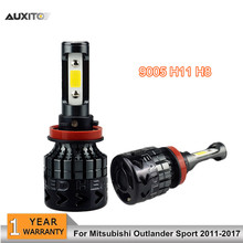 2x 9005 H11 COB LED Car Headlights Bulb Fog Lamp High Low Beam Replace Halogen Headlamp For Mitsubishi Outlander Sport 2011-2017