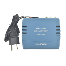 Standard 220V EU Plug PAL TV Signal Audio Video Signal Converter AV To RF Modulator Transponder(China)