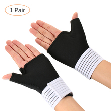 2 PCS Adjustable Wrist Brace Wrap Protector Elastic Wrist Brace Wrap Support Guard Thumb Support Relieve Strap for Fitness Safe