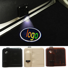 2 Pcs for Fiat Wireless Led Car Logo emblem Door Projector Laser Light LED Welcome Ghost Shadow No Drilling Car Styling