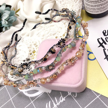 New Retro alloy zircon Wavy Hair Band Hoop Korean Simple Fashion Crown Headband Girls Flower hair accessories for women Hairband
