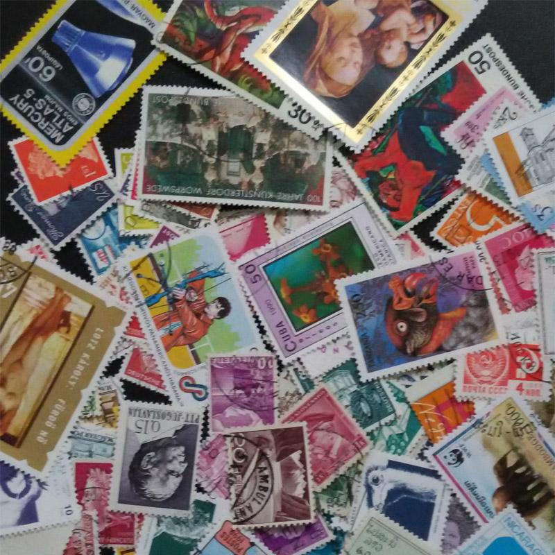 Used 100 PCS Different Ordinary commemorative Lot Postage Stamps With Post Mark  Off Paper Post Stamp From many Country<br><br>Aliexpress