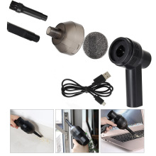 Mini USB Rechargeable Vacuum Cleaner Computer Keyboard Brush Nozzle Dust Collector Handheld Sucker Clean Kit Hogard(China)