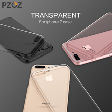 PZOZ Luxury Brand TPU Silicon Slim Clear 360 Transparent Silicone Case Cover Apple iPhone 7 Plus 7Plus iPhone7 Phone iPone - Official Store store