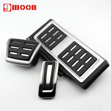 New design For Volkswagen VW Golf 7 MK7 GTI Skoda Octavia A7 Rapid Aluminum alloy car pedal foot rest pedals Plate Cover