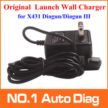 Promotion! 100% Original Launch Wall Charger for X431 Diagun/ X431 Diagun III Charger with Free Shipping With 3 Years Warranty
