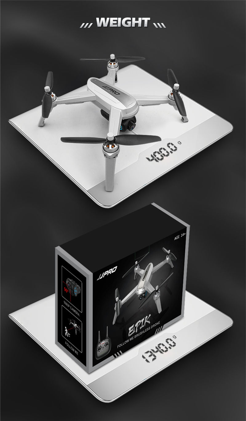 Free Gifts! JJRC JJPRO X5 5G GPS WIFI FPV With 1080P HD Camera Max 18 Mins Follow Me Altitude Hold RC Drone Quadcopter RTF 13