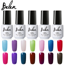 Belen White Bottle 7ML Pure Color All 79 Colors UV Gel Nail Polish Nail Gel Long-lasting Nail Art Professional Varnish(China)