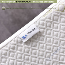 waterproof Bamboo Knit Jacquard mattress Protector mattress cover 100% Waterproof W015
