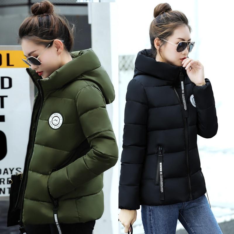 New 2017 Winter-autumn women cotton basic fashion jacket women hooded coat casaco warm coats manteau hiver femme short jacketsÎäåæäà è àêñåññóàðû<br><br>