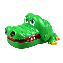 Hot Sell Creative Practical Jokes Mouth Tooth Alligator Hand Children's Toys Family Games Classic Biting Hand Crocodile Game(China)