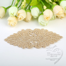 2017 Woven Label 20pcs Manual Hair Diy Material Gold And Silver Line Flower Clothing Accessories Manufacturers Supply Wholesale