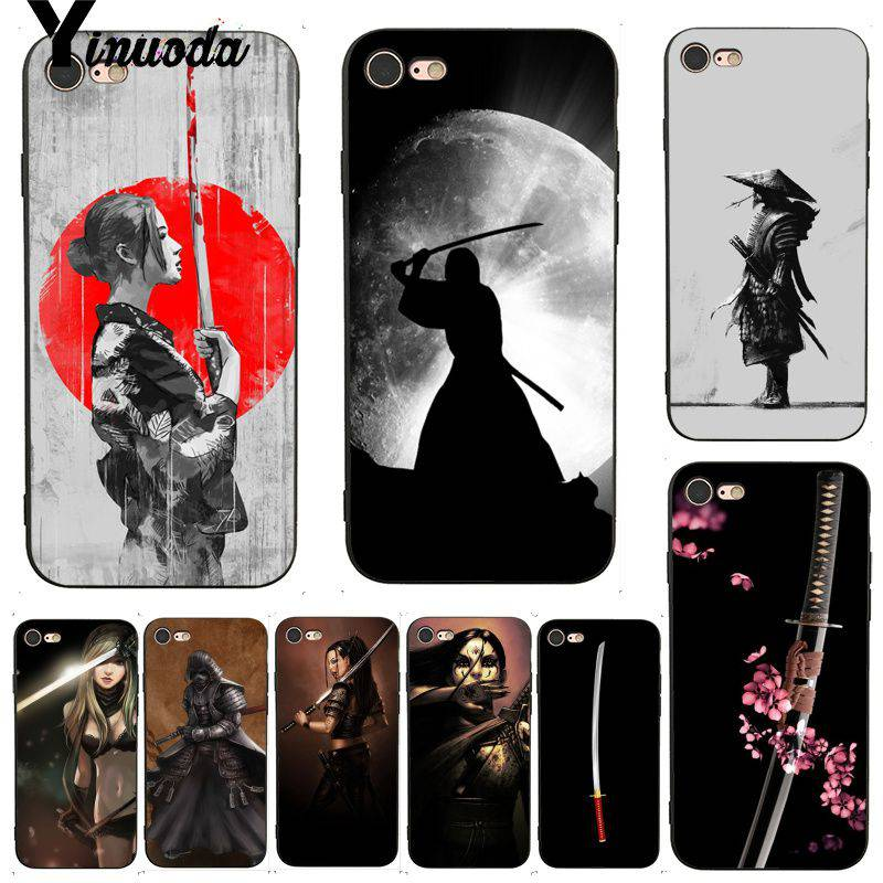 Чехол для мобильного телефона Yinuoda Japan Samurai Girl Sword Style для iPhone 7X6 6S 8 Plus X 5 XS XR XSMAX 11 11pro 11promax(Китай)