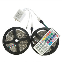 5M Double Layer PCB 5050 RGB 300 LED Strip and 44 Key RGB Controller Kit Flexible LED Tape IP20/IP65 Waterproof 12V LED Lighting