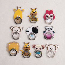 Hot Sales 1 Piece Universal Acrylic Finger Ring Mobile Phone Holder Stand Lovely Cartoon Panda Owl Dog Pattern Smartphone Rings