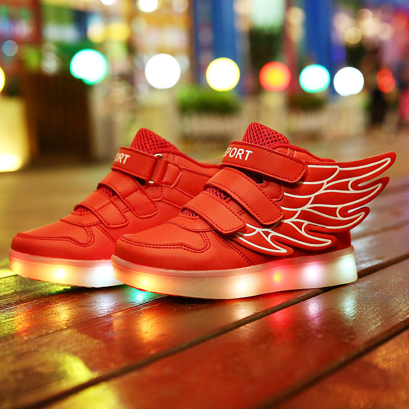 Size26-35//USB Charging kids basket glowing luminous children shoes with led light up casual shoes for boy&amp;girls sneakers enfant<br>