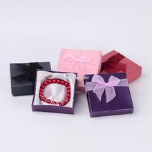 72pcs Valentines Day Gifts Boxes Square Cardboard Bracelet Boxes for Jewelry Packaging Mixed Color about 9cmx9cmx2.7cm