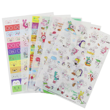 6 Sheets/Set Rabbit Book Sticker For Diary Scrapbook Calendar Notebook Label Mobile Phone Decoration Baby Girl Toys(China)