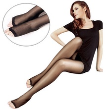 Summer NEW Female Fashion Full Length Ladies Stretchy Anti-off Silk Cored Wire Fish Head Open Toe Pantyhose Stockings