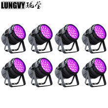 Free Shipping 8pcs/Lot 19x12w RGBW 4IN1 Zoom Outdoor LED Par Light IP65 Waterproof DMX512 For DJ Nightclub Party Event