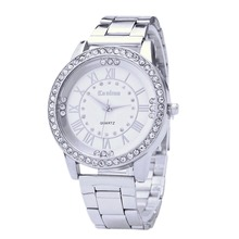 Fashion Women's Watches Crystal Rhinestone Wrist Watch Woman Watches Stainless Steel Watch Clock Feminino Relogios Saat