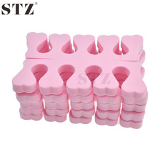 STZ 2pcs Soft Foam Sponge Toe Separator Finger Separator Nail Art Tools Feet Care Manicure Pedicure TR20x2