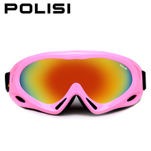 POLISI Children Ski Boys Girls Kids Ski Goggles Snowboard Ski Glasses  Sunglasses Kid's Winter Skate  Anti-UV Glasses P-301-PI