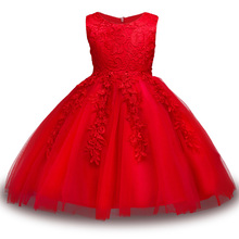Baby Girls Flower bowknot Wedding Party Gown Children Tutu Dress girls Princess dress Birthday kids clothes 2017 New