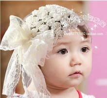 5pcs/lot Drop Shipping Kids girls hair band Hair Accessories lace flower Headwear Headgear A127-1(China)