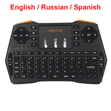 Mini Keyboard Russian Spanish English Version 2.4G Wireless Keyboard for Mini PC Laptop Android TV Box Raspberry Pi 3 Orange Pi(China)