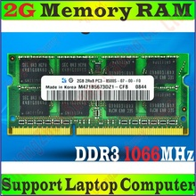 Original Quality Memory RAM PC3-8500S 4g / 4GB 2g 2GB  DDR3 1066MHz FOR Laptop Notebook Apple MacBook PC3-8500 , free&sh&pping